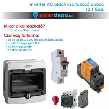 Inverter csatlakozó AC doboz 1 fázis