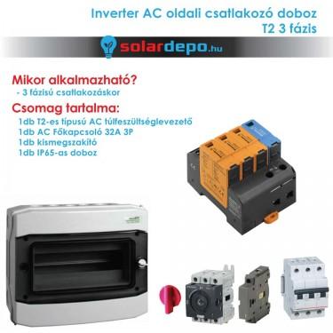 Inverter csatlakozó AC doboz 3 fázis