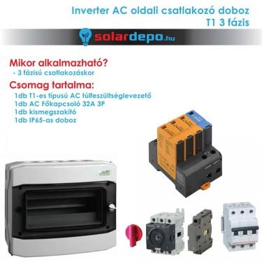 Inverter csatlakozó AC doboz 3 fázis T1