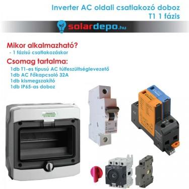 Inverter csatlakozó AC doboz 1 fázis T1