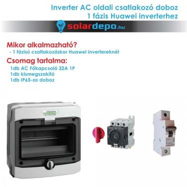 Inverter csatlakozó AC doboz 1 fázis Huawei inverterhez