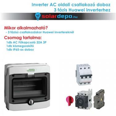Inverter csatlakozó AC doboz 3 fázis Huawei inverterhez