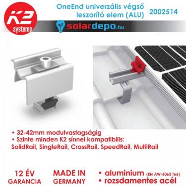 K2 Systems 2002514 OneEnd ALU Univerzális végleszorító szett 32-42mm