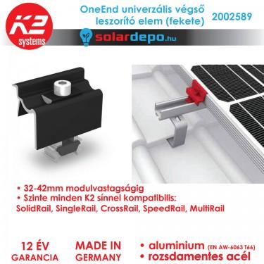 K2 Systems 2002589 OneEnd Fekete Univerzális végleszorító szett 32-42mm