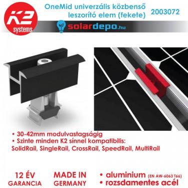 K2 Systems 2003072 OneMid Fekete Univerzális közbenső leszorító szett 30-42mm