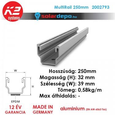 K2 Systems 2001301 MultiRail 250mm