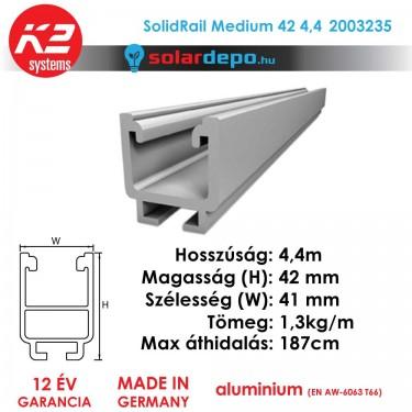 K2 Systems 2003235 SolidRail Medium 42 4,4m
