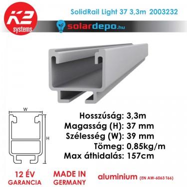 K2 Systems 2003232 SolidRail Light 37 3,3m