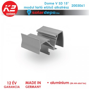 K2 Systems 2003061 Dome V SD 15° modul tartó elülső alkatrész