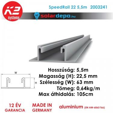 K2 Systems 2003241 SpeedRail 22 5,5m