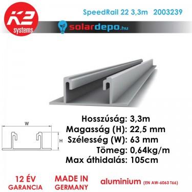 K2 Systems 2003239 SpeedRail 22 3,3m