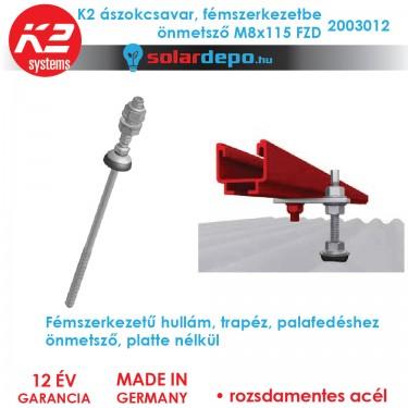 K2 Systems 2003012 Ászokcsavar M8x115 FZD önmetsző