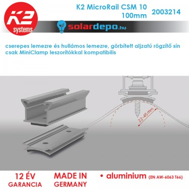 K2 Systems 2003214 MicroRail CSM10