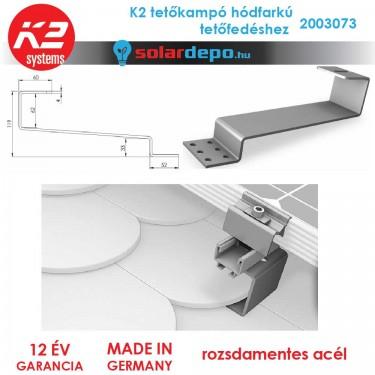 K2 Systems 2003073 tetőkampó hódfarkú fedéshez