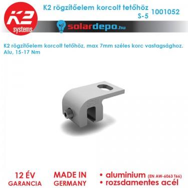 K2 Systems 1001052 rögzítőelem korcolt tetőhöz S-5