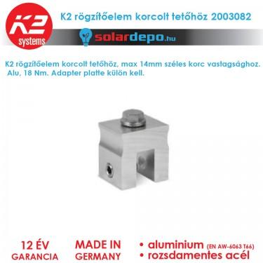 K2 Systems 2003082 rögzítőelem korcolt tetőhöz