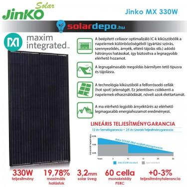 Jinko Solar Maxim Integrated cellasoroptimalizált 330W okos napelem