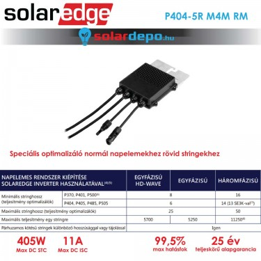 Solaredge P404 optimalizáló