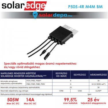 Solaredge P505 optimalizáló