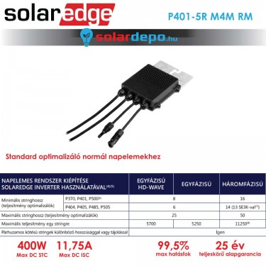 Solaredge P401 optimalizáló